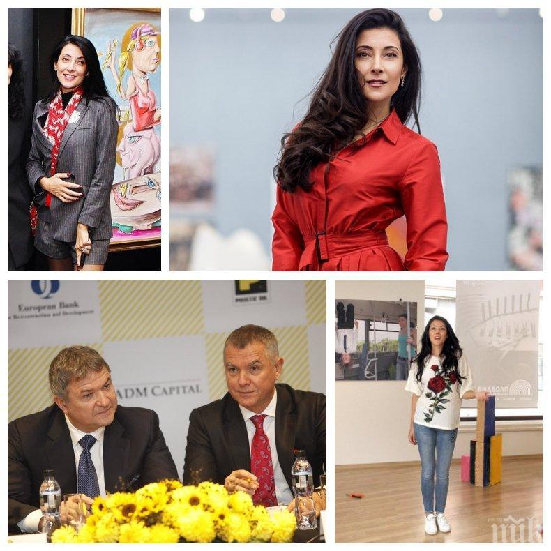 ПЪРВО В ПИК: Христина Бобокова изпълзя от бърлогата си - милионершата чупи стойки в минижуп на изложба с провокативна плът (СНИМКИ)