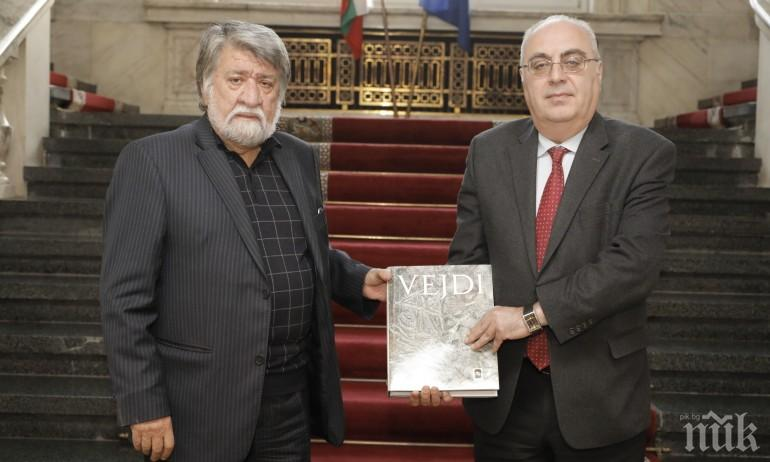 Посланик Армен Едигарян: Вежди Рашидов е жива легенда в Армения