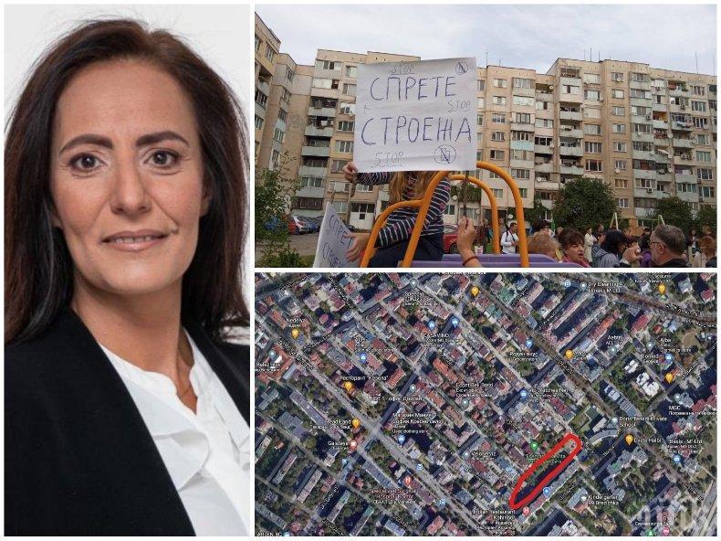 СИГНАЛ ДО ПИК: Кмет на ДеБъ ударно застроява зелена площ в столичен квартал (СНИМКА)
