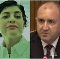 Калина Андролова безпощадна към Радев: Имаме един дълбоко неинтелигентен президент
