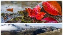 НОЕМВРИ СИ КАЗВА ДУМАТА: Облаци и дъжд превземат страната, сняг по високите места в планините
