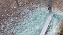 ЕКШЪН: Бакшиш изпочупи автобус във Варна след скандал на пътя