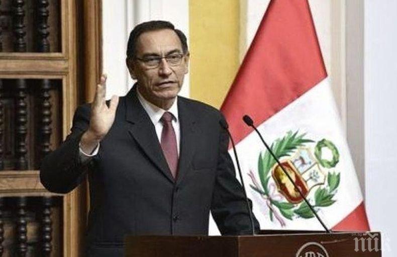 Изгониха от политиката бившия президент на Перу, прередил се за ваксина