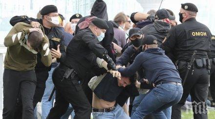 Масови арести в Беларус след протест срещу Лукашенко