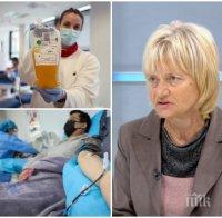 Д-р Михайлова разкри точно каква кръвна плазма е новият хит в лечението на COVID-19