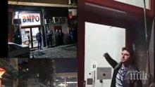 ИЗВЪНРЕДНО В ПИК: Ето го метежника, счупил вратата на централата на ВМРО (СНИМКИ)