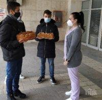 Ученици с дарение за лекарите в Covid отделението в МБАЛ-Добрич
