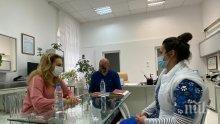Вицепремиерът Николова посети белодробната болница във Велинград