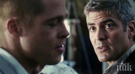 Джордж Клуни разказа за шега, която си направил Брад Пит с него по време на снимки