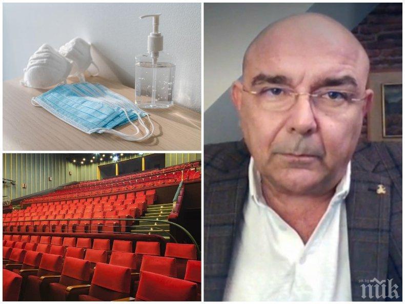 Калин Сърменов: Театрите с помощта на правителството се справяме много добре
