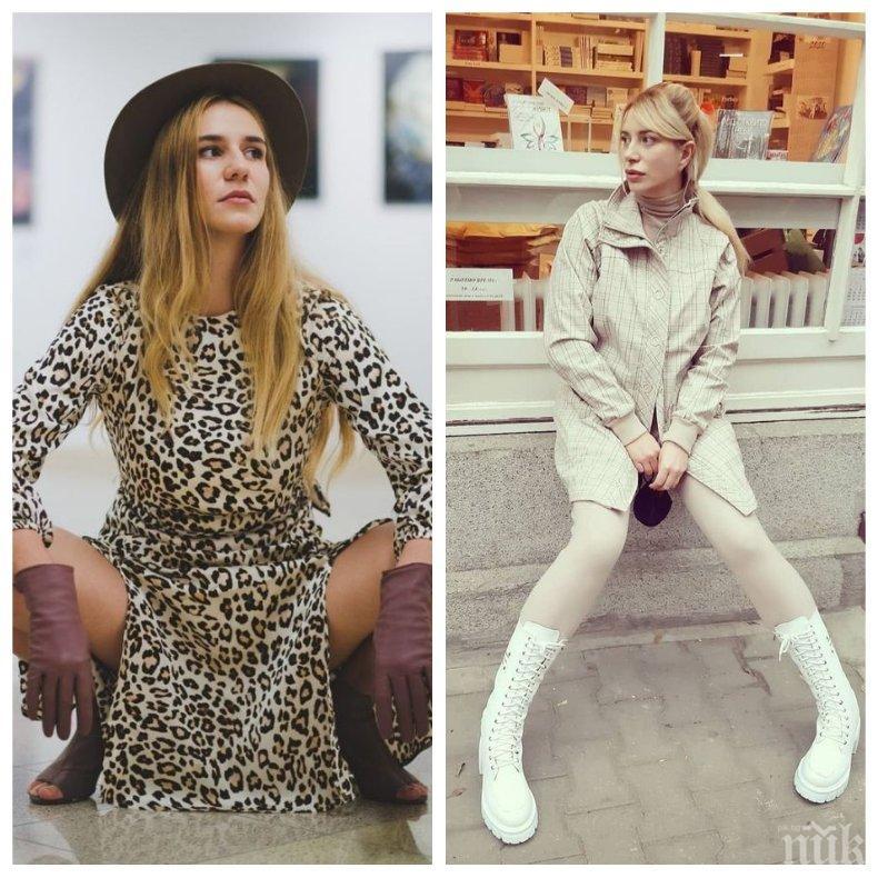 ЕКШЪН: Арестуваха дъщерята на Ваня Щерева за нарушаване на обществения ред - актрисата я измъква по нощите от полицията
