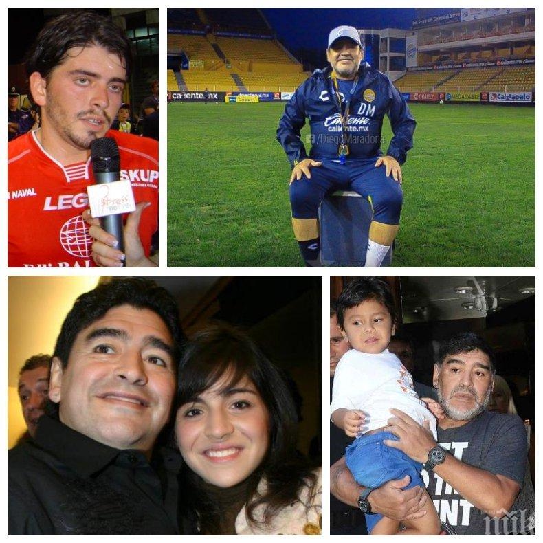 Марадона остави скромно наследство за осемте си деца - милионите, спечелени на терена, мистериозно се изпариха