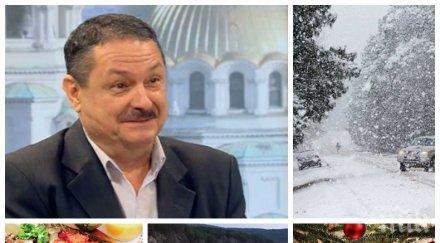 пик топ климатологът проф георги рачев ексклузивна прогноза никулден коледа докога вали сняг отразят валежите язовирите българия