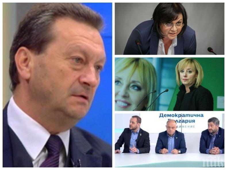 САМО В ПИК: Таско Ерменков проговори възможно ли е Нинова да влезе в коалиция с Мая Манолова, Слави Трифонов и ДеБъ
