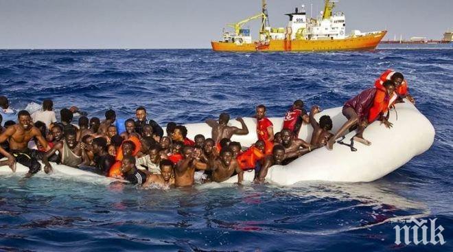ТРАГЕДИЯ! 43-ма африкански мигранти се удавиха край бреговете на Либия