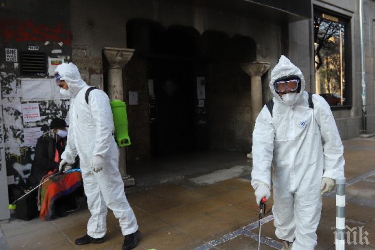 Дезинфекцират срещу COVID-19 в София