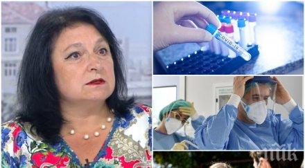 вирусологът доц любомира николаева гломб подкрепи мерките съобщи плахо добра новина кривата болните върви надолу