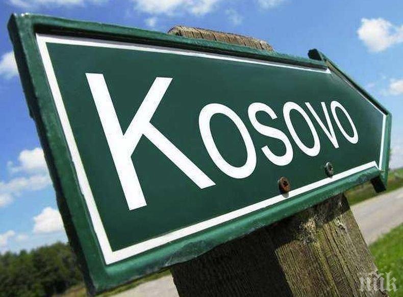 Косовският министър на отбраната Арменд Мехай от името на своето