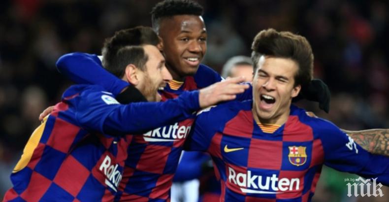 Барселона се добра трудно до финала за Суперкупата на Испания