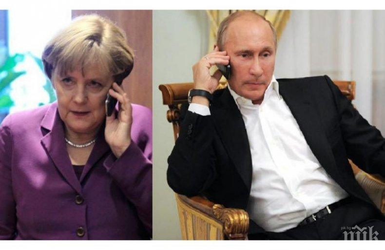 ПО ЖИЦАТА: Меркел предложи помощ на Путин за регистрация на Спутник V в ЕС