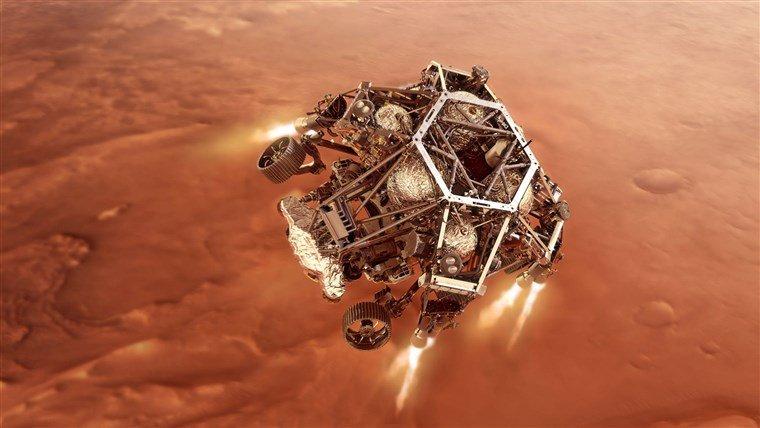 НАСА показа зрелищно ВИДЕО от кацането на Пърсивиърънс на Марс