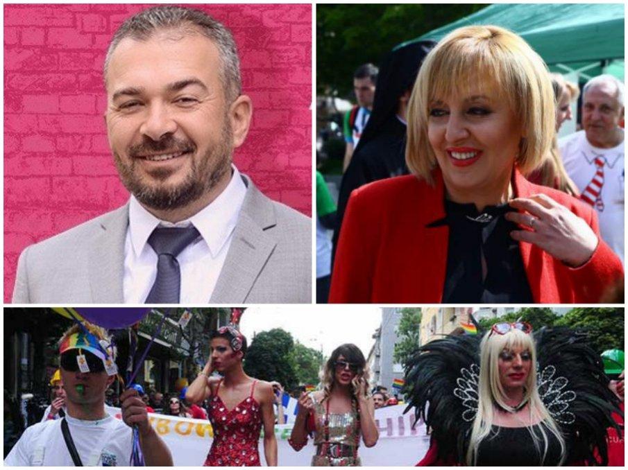 РОЗОВА ПАРТИЯ: Мая Манолова привлича джендърите с гей активист начело на листата в София - Виктор Лилов лъсна дибидюс (СНИМКА)