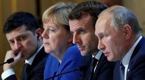 Меркел и Макрон обсъждат със Зеленски конфликта в Донбас
