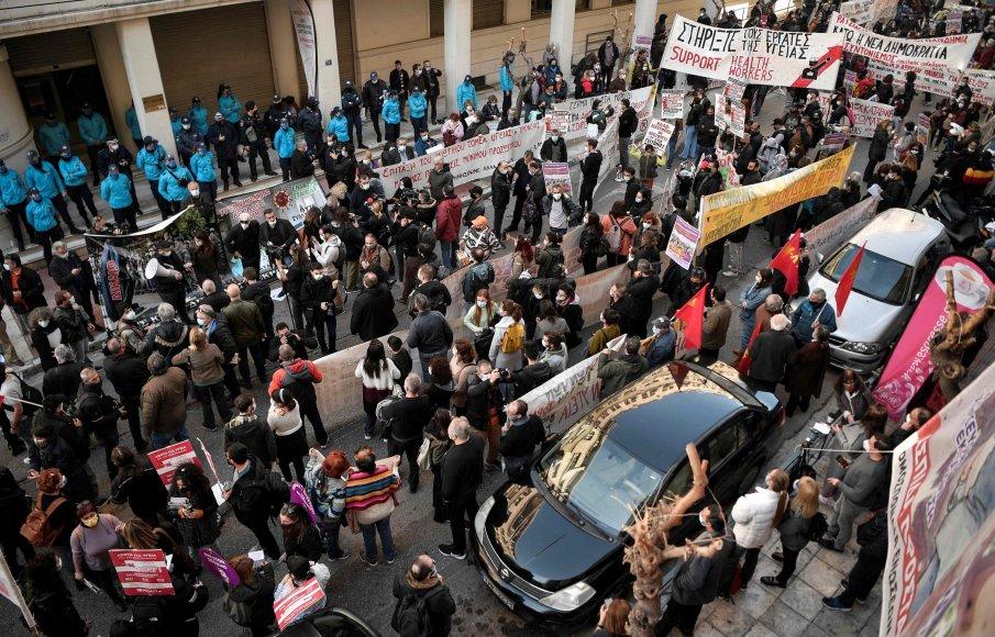 Хиляди студенти на протест в Гърция срещу полицейско присъствие в кампусите