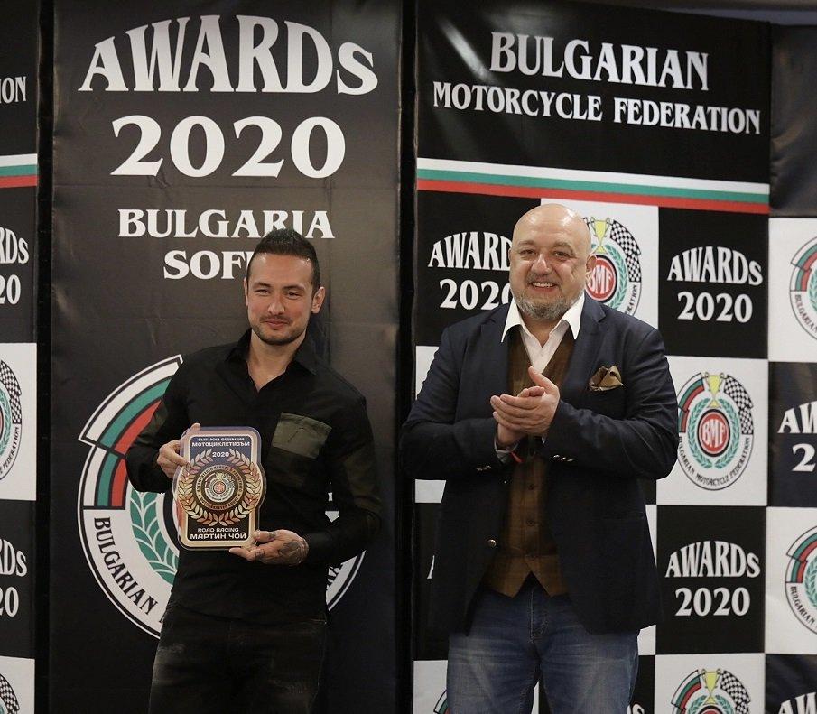 Кралев награди най-добрите български мотоциклетисти за сезон 2020 (СНИМКИ)