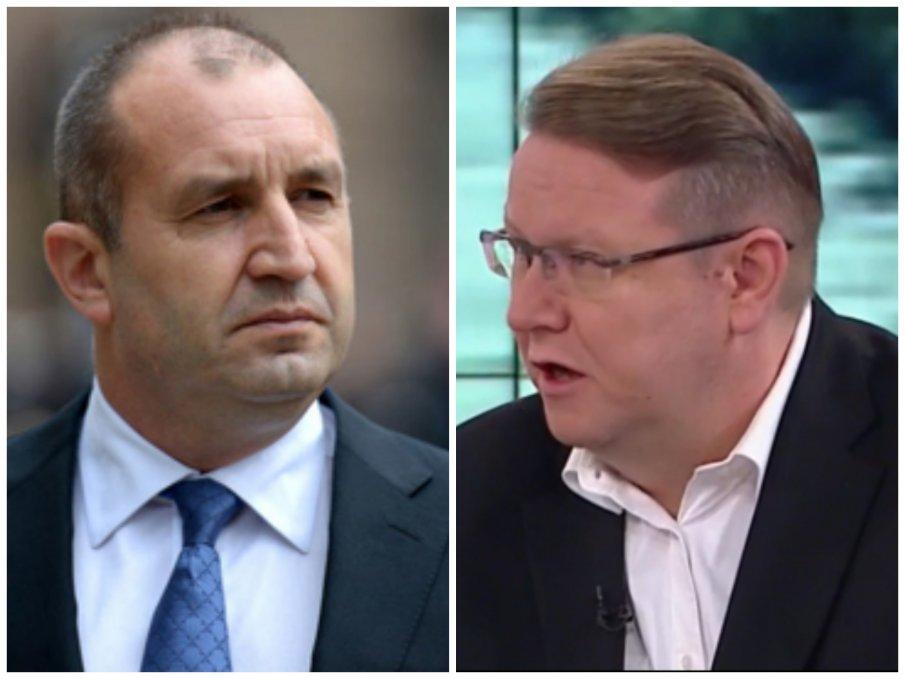 Явор Дачков: Двама маргинали от Сената направили изявление под лобисткия натиск на български маргинали като Цветанов. И Радев ги забелязва?! Позицията му е неадекватна, несъстоятелна и глупава