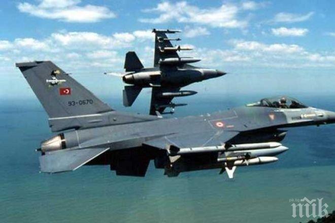 Двойка турски изтребители F-16 са прелетели над източната част на Егейско море