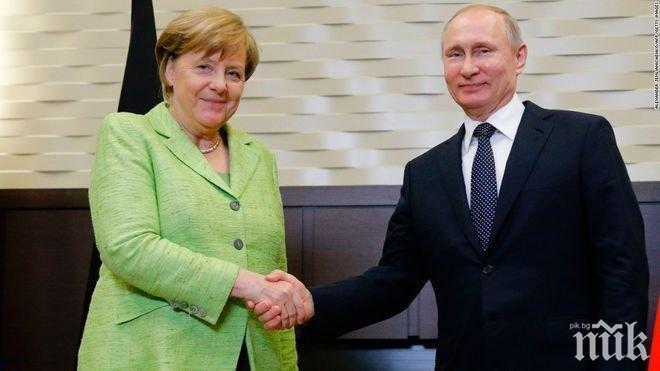 Меркел и Путин с важен разговор за ситуацията в Югоизточна Украйна