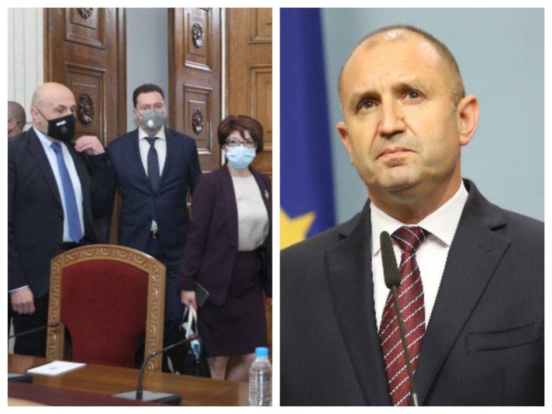 ПЪРВО В ПИК TV! ГЕРБ-СДС получиха мандат за правителство като първа сила на изборите - Даниел Митов го взе от Румен Радев (СНИМКИ/ОБНОВЕНА)