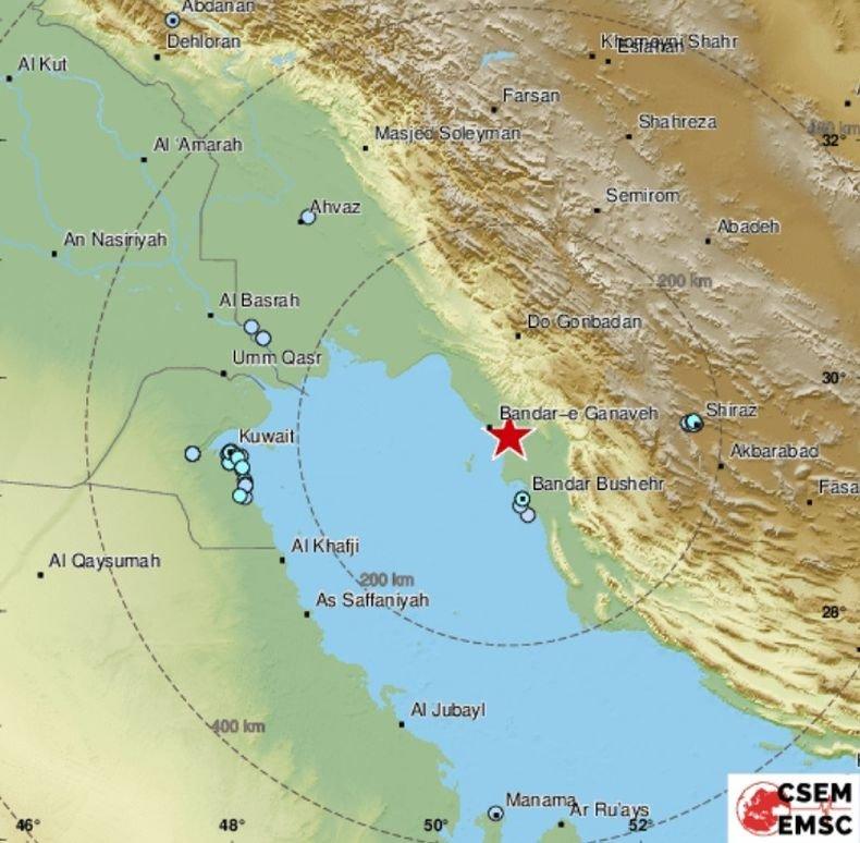 Земетресение с магнитуд 5.9 по Рихтер бе регистрирано в Иран