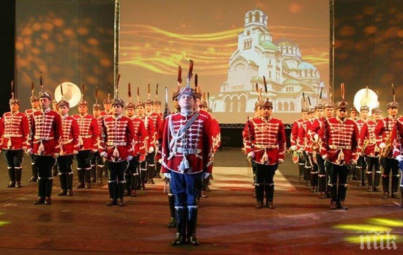 Представителният ансамбъл на въоръжените сили и Гвардейският представителен духов оркестър с празничен концерт в София по повод 6 май