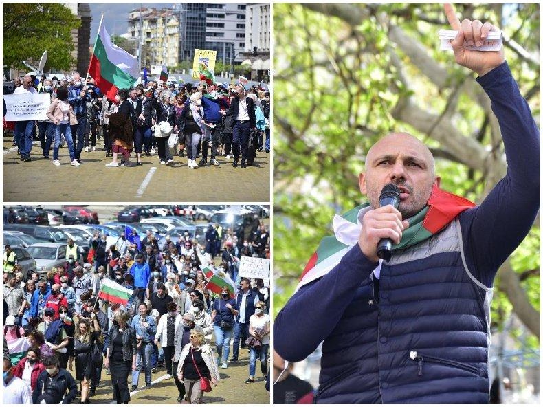ИЗВЪНРЕДНО В ПИК TV: Стотици на шествие, водени от Стъки! Викат Оставка на Радев (СНИМКИ/ВИДЕО)