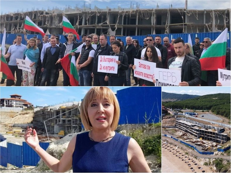 ГЕРБ на плаж Алепу: Мая вън! Това ли е новият хотел на Манолова (ВИДЕО)
