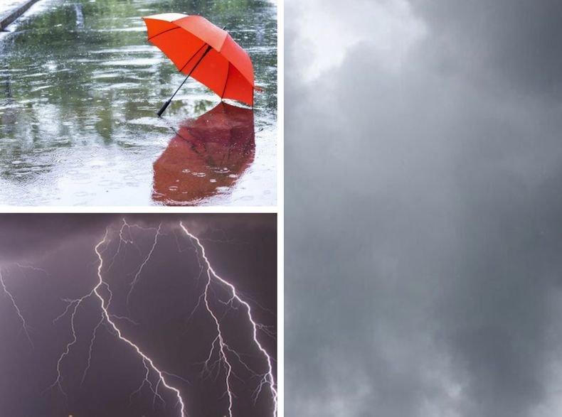 ВРЕМЕТО СЕ РАЗВАЛЯ: Тъмни облаци надвисват над България - седмицата започва с дъжд, гръмотевици и градушки (КАРТА)