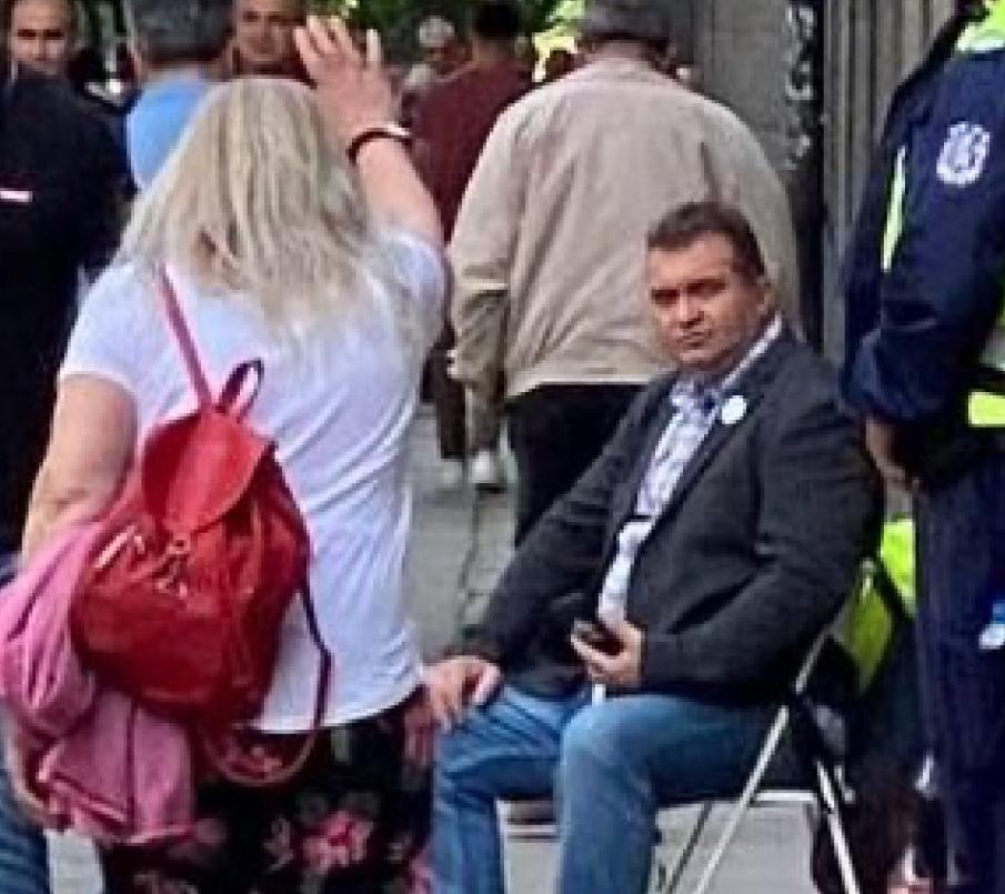 """Протестът на """"боеца"""" Георги Георгиев се разпадна"""