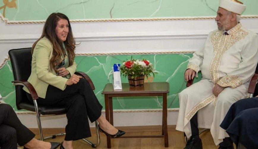 Херо Мустафа на среща с главния мюфтия д-р Мустафа Хаджи