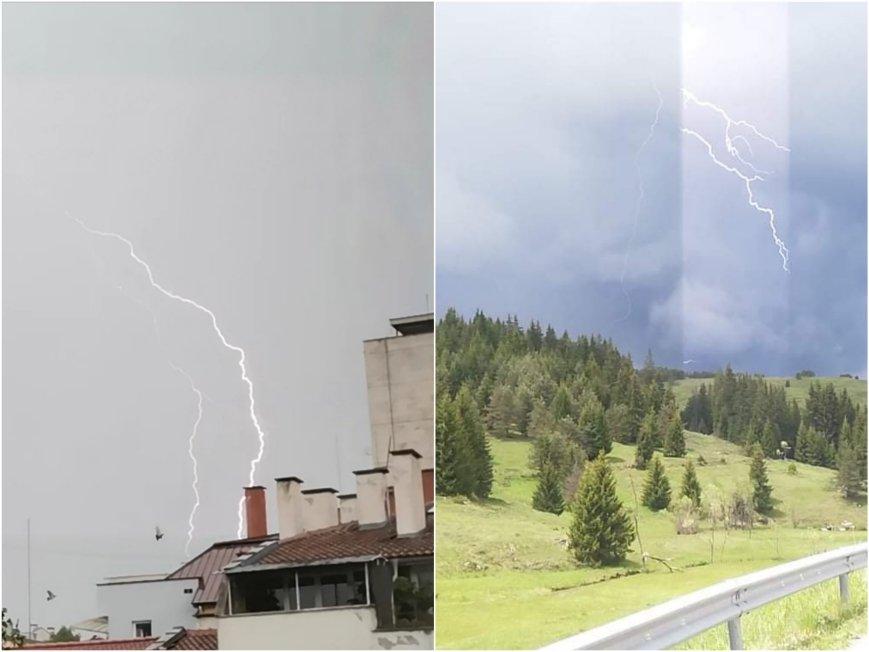 Страшни гръмотевични бури, придружени с порои в части на страната