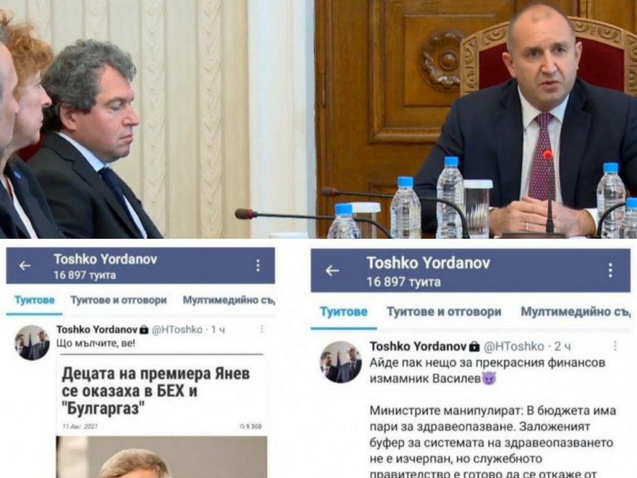 ВОЙНА В МРЕЖАТА: Тошко Йорданов захапа премиера на Радев заради назначенията на децата му на тлъсти държавни заплати (СНИМКИ)