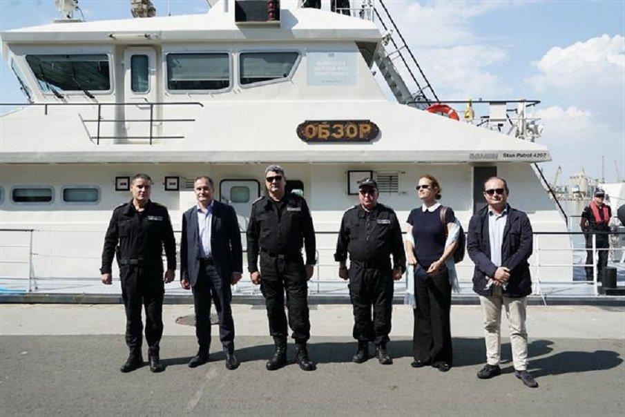 Делегация на Фронтекс посети морската граница на България (СНИМКИ)