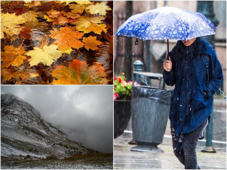 ВРЕМЕТО СЕ РАЗВАЛЯ: Студът нахлува с дъжд, в планините - със сняг