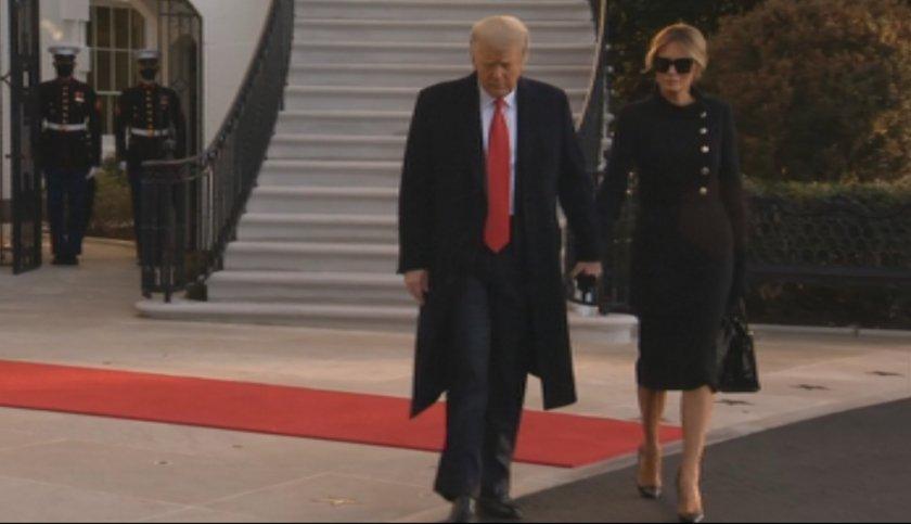 Тръмп напусна Белия дом, прости се с привържениците си (СНИМКИ/ВИДЕО)