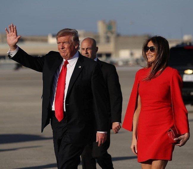 Тръмп е вече на топло в пищното си имение със 130 стаи във Флорида