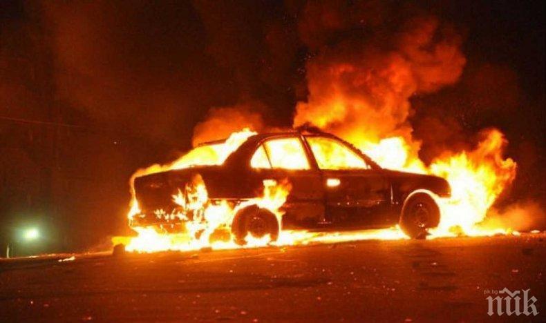 Пиян мъж изгоря в колата си след интервю за работа