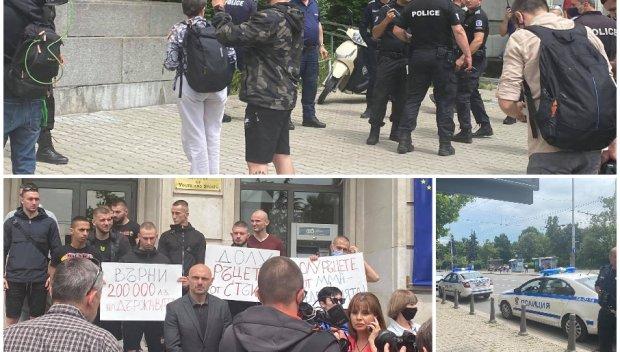 ИЗВЪНРЕДНО В ПИК TV! Състезател по ММА припадна пред кабинета на министър на Радев! Пратиха полиция срещу шампионите на Стъки (ВИДЕО/СНИМКИ/ОБНОВЕНА)