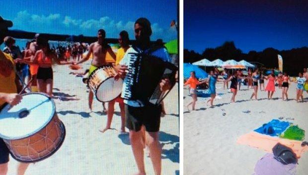 Родолюбиви летовници извиха хоро на плажа в Приморско (ВИДЕО)