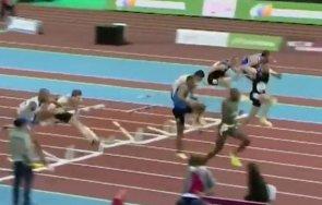 американец счупи световния рекорд спринта метра препятствия зала